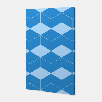 Thumbnail image of Abstract geometric pattern - blue. Canvas, Live Heroes