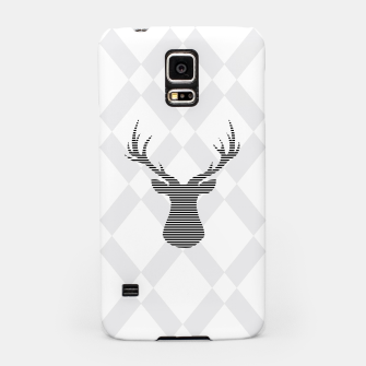 Deer - Abstract geometric pattern - gray and white. Samsung Case obraz miniatury