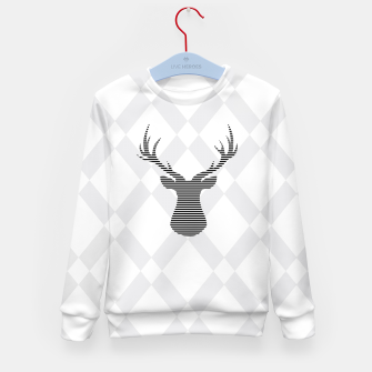 Miniaturka Deer - Abstract geometric pattern - gray and white. Kid's sweater, Live Heroes