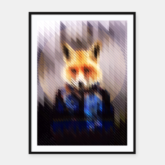 Miniatur Cool Fox Framed poster, Live Heroes