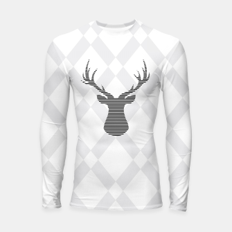 Thumbnail image of Deer - Abstract geometric pattern - gray and white. Longsleeve rashguard , Live Heroes