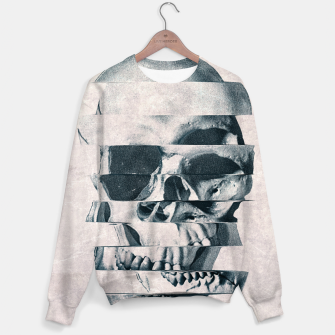 Thumbnail image of Glitch Skull Mono Cotton sweater, Live Heroes