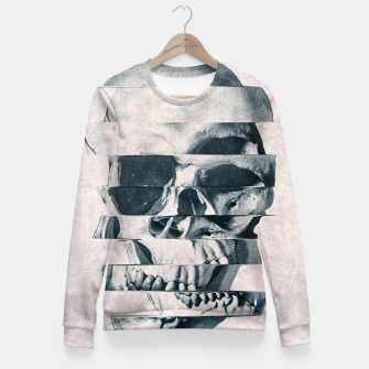 Imagen en miniatura de Glitch Skull Mono Woman cotton sweater, Live Heroes