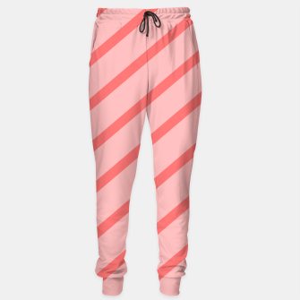 Thumbnail image of Abstract geometric pattern - pink. Cotton sweatpants, Live Heroes