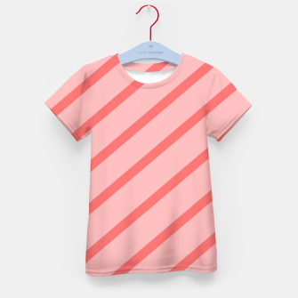 Thumbnail image of Abstract geometric pattern - pink. Kid's t-shirt, Live Heroes