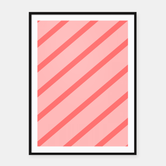 Miniatur Abstract geometric pattern - pink. Framed poster, Live Heroes