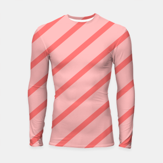 Thumbnail image of Abstract geometric pattern - pink. Longsleeve rashguard , Live Heroes