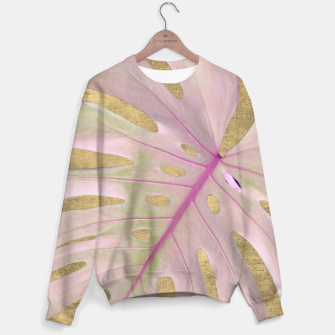 Miniaturka Rose palm on golden background Cotton sweater, Live Heroes