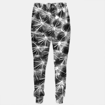 Thumbnail image of closeup cactus texture with morning sunlight in black and white Cotton sweatpants, Live Heroes