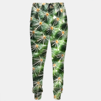 Thumbnail image of closeup green cactus texture with morning sunlight Cotton sweatpants, Live Heroes