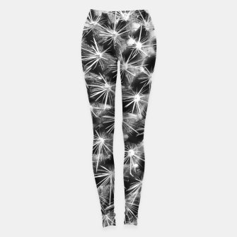 Thumbnail image of closeup cactus texture with morning sunlight in black and white Leggings, Live Heroes