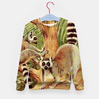 Miniaturka  Kuhnert, Friedrich Wilhelm - Wild Life of the World 1916 v.3 (Ring-tailed Lemur) Kid's sweater, Live Heroes