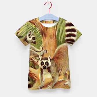 Thumbnail image of  Kuhnert, Friedrich Wilhelm - Wild Life of the World 1916 v.3 (Ring-tailed Lemur) Kid's t-shirt, Live Heroes
