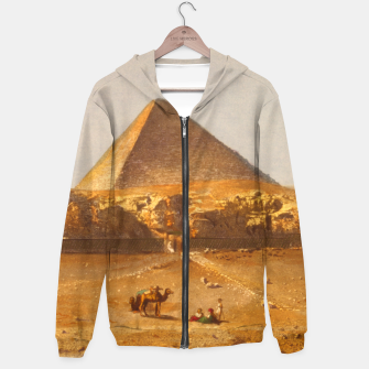 Lerebours, Noël Paymal (1807-1873) - Pyramid of Cheops 1842 Cotton zip up hoodie obraz miniatury