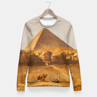 Lerebours, Noël Paymal (1807-1873) - Pyramid of Cheops 1842 Woman cotton sweater obraz miniatury