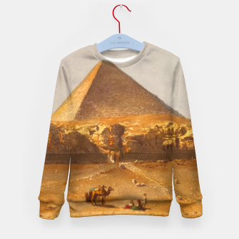 Miniaturka  Lerebours, Noël Paymal (1807-1873) - Pyramid of Cheops 1842 Kid's sweater, Live Heroes