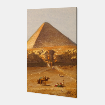 Thumbnail image of  Lerebours, Noël Paymal (1807-1873) - Pyramid of Cheops 1842 Canvas, Live Heroes