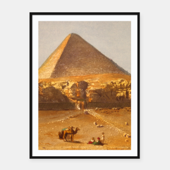 Miniatur  Lerebours, Noël Paymal (1807-1873) - Pyramid of Cheops 1842 Framed poster, Live Heroes