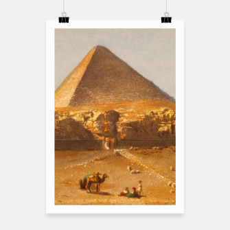 Lerebours, Noël Paymal (1807-1873) - Pyramid of Cheops 1842 Poster obraz miniatury