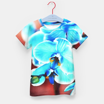 Thumbnail image of Blue orchid Kid's t-shirt, Live Heroes