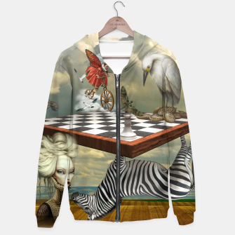 Thumbnail image of Collage LXXVI Cotton zip up hoodie, Live Heroes