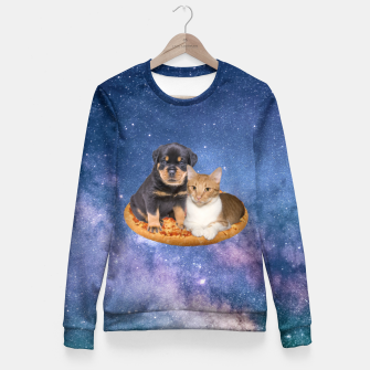 Thumbnail image of Cat and Dog  Woman cotton sweater, Live Heroes