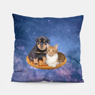 Thumbnail image of Cat and Dog  Pillow, Live Heroes