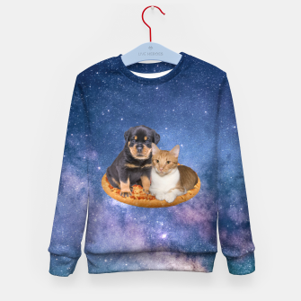 Miniaturka Cat and Dog  Kid's sweater, Live Heroes