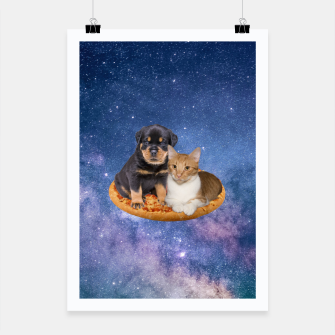 Thumbnail image of Cat and Dog  Poster, Live Heroes