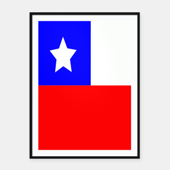 Miniatur Flag of Chile Framed poster, Live Heroes