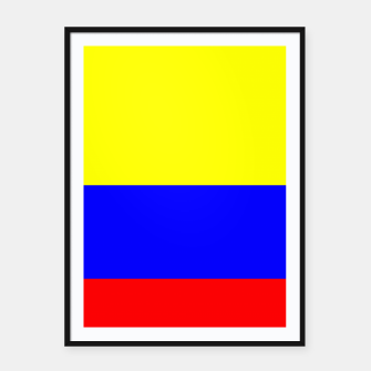 Miniatur Flag of Colombia Framed poster, Live Heroes