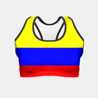 Thumbnail image of Flag of Colombia Crop Top, Live Heroes