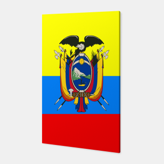 Thumbnail image of Flag of Ecuador Canvas, Live Heroes