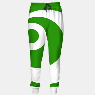 Thumbnail image of Abstract pattern - green and white. Cotton sweatpants, Live Heroes