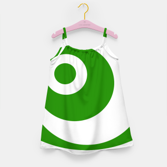 Thumbnail image of Abstract pattern - green and white. Girl's dress, Live Heroes