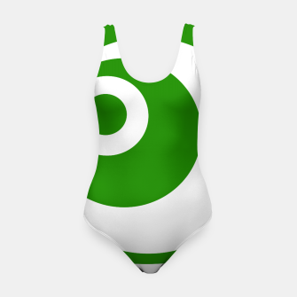 Thumbnail image of Abstract pattern - green and white. Swimsuit, Live Heroes