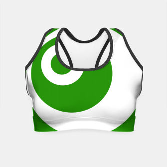 Thumbnail image of Abstract pattern - green and white. Crop Top, Live Heroes