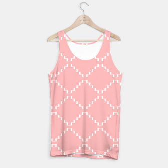 Abstract geometric pattern - pink and white. Tank Top obraz miniatury