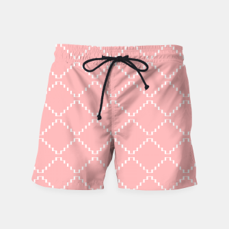 Abstract geometric pattern - pink and white. Swim Shorts obraz miniatury