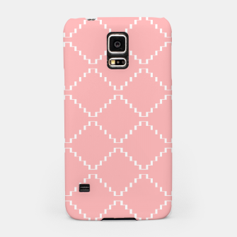 Abstract geometric pattern - pink and white. Samsung Case obraz miniatury