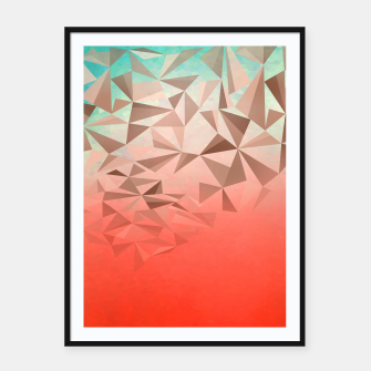 Thumbnail image of Falling Gems Framed poster, Live Heroes