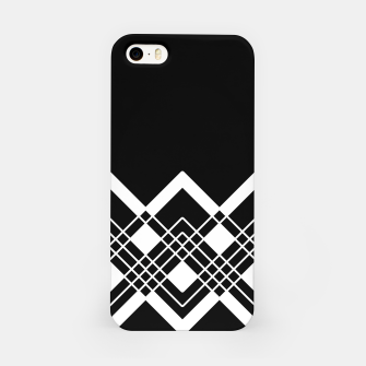 Thumbnail image of Abstract geometric pattern - black and white. iPhone Case, Live Heroes