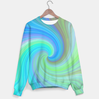 Blue Vortex  Cotton sweater obraz miniatury