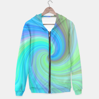 Blue Vortex  Cotton zip up hoodie obraz miniatury