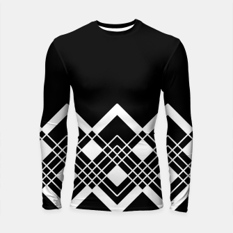 Thumbnail image of Abstract geometric pattern - black and white. Longsleeve rashguard , Live Heroes