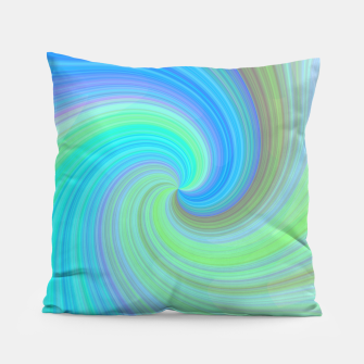 Blue Vortex  Pillow obraz miniatury