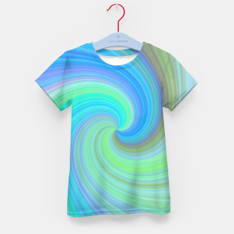 Blue Vortex  Kid's t-shirt obraz miniatury
