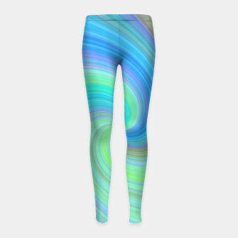 Blue Vortex  Girl's leggings obraz miniatury