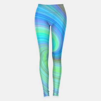 Blue Vortex  Leggings obraz miniatury