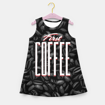 Thumbnail image of First COFFEE Girl's summer dress, Live Heroes